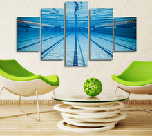 5Piece Home Decor Wall Art Pictures Painting Print Poster Swimming Pool Underwater Canvas Painting On The Wall Artwork Hanging
