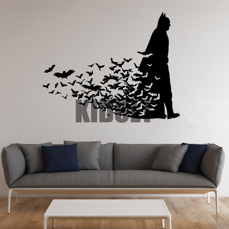 Hot & Home Decor Wall Sticker Creative skateboarding figure pattern plane Wall stickers vinyl wall decals many colors wholesale