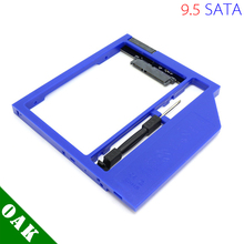 New Plastic Universal 9.5mm SATA to SATA Second HDD Caddy Enclosure for Laptop 2.5inch Hard Disk Blue Color