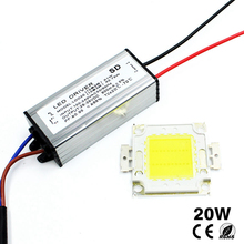 T.Y.S 1Set 20W COB LED Integrated Lamp Chip With LED Power Supply Driver For LED Floodlight Driver Spot Light Lawn LED Bulbs(China)