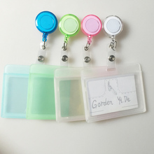 1PCS Cheap Bank Credit Card Holders PVC Card Bus ID Holders Identity Badge with Retractable Reel wholesale #GYD0002(China)