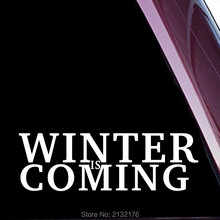 "Design2 Winter is Coming 8"" die cut vinyl Sticker decal for windows car trucks tool boxes laptop MacBook NOT PRINTED! White"