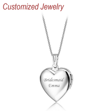 Free shipping Personalized Heart Necklace Love Lovers Pendant Engraving Name Gift Women's Jewelry Customized Accessories QiQiWu