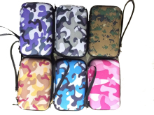 10pcs/lot Fashion Hot Selling Earphone Storage Bag Carrying Case for Earphone Power Bank MP3 MP4 Camouflage Pouches(China)