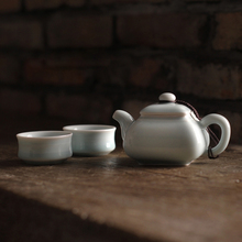 Three Colors Chinese Longquan Celadon Porcelain Kung Fu Tea Set One Teapot Two Teacups China Tea Pot Coffee Cup High Quality(China)