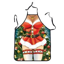 Funny Printed Personality Aprons Christmas Santa Anime Cartoon Sex Lady Cooking Apron Creative Character Series(China)
