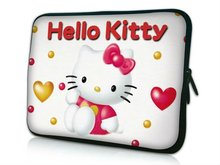 "Cute Hello Kitty Design 17""17.3""17.4"" Laptop Bag Notebook Sleeve Laptop Case Soft Cover Pouch For Lenovo Dell HP(China)"