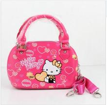 Hot Pink ! 2016 New Arival Kids Girls Fashion Purse Children Cartoon bags Cute PU Hello Kitty handbags School bags for Kids Girl