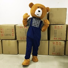 New Adult Teddy Bear Mascot Costume Adult Teddy Bear Halloween Christmas Cosplay Mascot Costume For 1.65m-178m