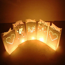 20Pcs/Bag Flame Retardant Candles Bag For Birthday Party Halloween Paper Lantern Creative Candles Party Decor