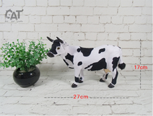 new simulation cow toy plastic&fur Dairy cow doll gift about 27x17cm a35