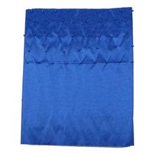 Blue African Gele Headtie Sego with Beads Hojilou Material African Fabric Headtie Sego Fashionable African Scarf 2pcs/lot