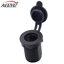 AOZBZ 12V Cigarette Lighter Socket Power Plug Outlet for Boat Tractor Motorcycle Waterproof Heat Resisting Car Accessory(China)
