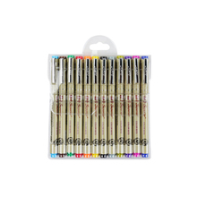 12 Pcs/lot Painting Drawing Brush Pen Set Sketch Copic Marker For Calligraphy Assorted Colors Supplies