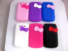 7 Colors Hello Kitty Silicone Phone Case Cover for Blackberry Bold 9700(China)