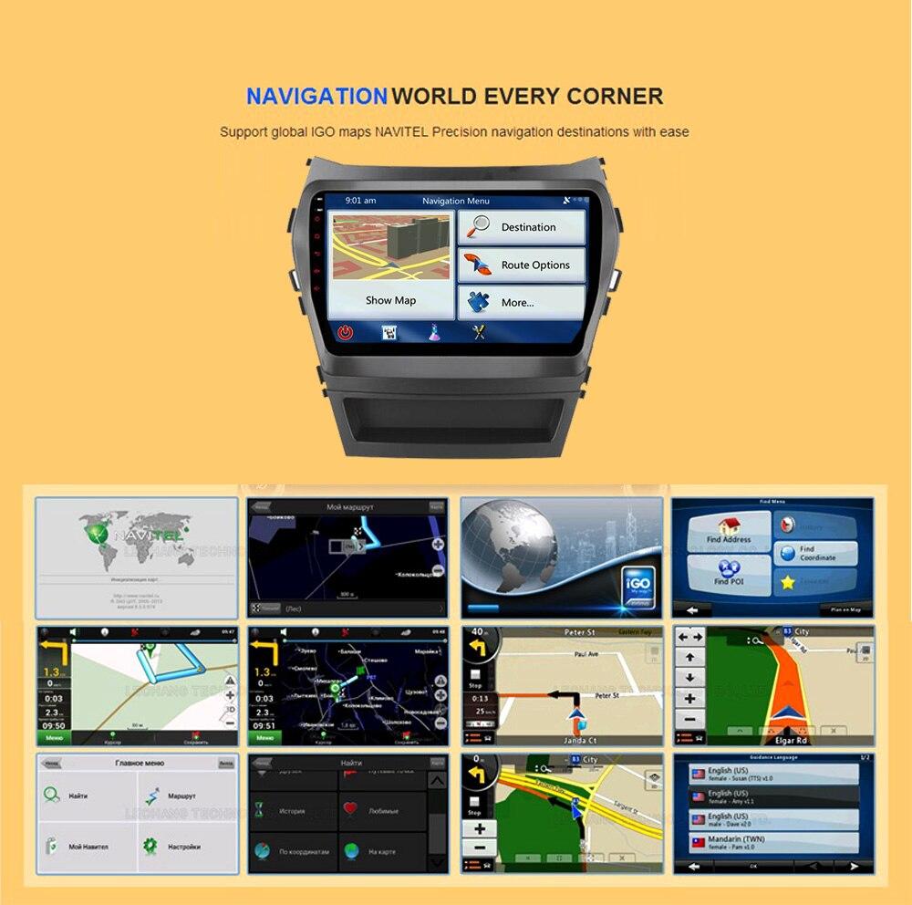 2 + 16 Android 6.0 DVD GPS 2 DIN DVD IX45 Hyundai IX45 Santa Fe 2013 navigaton