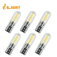 iLight T10 6x LED Lamp w5w led Bulb Car LED Lights Interior light Replaceable Turn light Warning Light 12V 1.5W 300LM(China)
