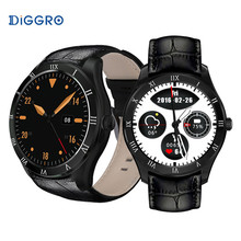 Bluetooth 4.0 Diggro DI05 Smart Watch 512MB+8GB 3G NANO SIM Card WIFI GPS Calling Heart Rate Monitor Weather Health Reminder(China)