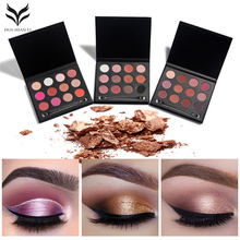 Useful 12 Color Natural Pigment Matte Eyeshadow Palette + Brush Long Lasting Cosmetic Eye Shadow Set Make Up