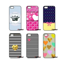 Cute Heart Stripes Princess For iPod Touch iPhone 4 4S 5 5S 5C SE 6 6S 7 Plus Samung Galaxy A3 A5 J3 J5 J7 2016 2017 Case Cover(China)