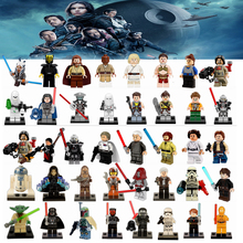 Star Wars DIY Blocks Qui-Gon Jinn Luke Skywalker Darth Vader Yoda Obi Wan Han Solo BB8 R2D2 Models Building Toy Starwars
