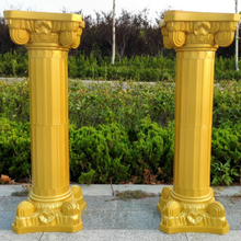 Noolim Roman Columns Plastic Pillars Road Cited Wedding Props Event Decoration Supplies 2pcs/lot Gold Color(China)