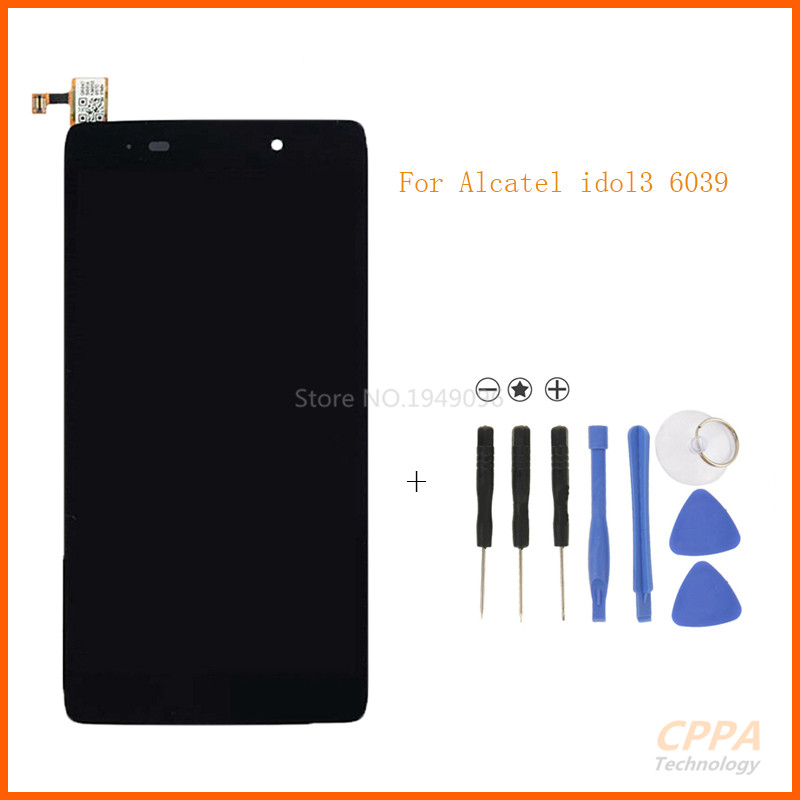 Black Full LCD display + Touch screen digitizer assembly For Alcatel One Touch Idol 3 4.7 LTE 6039 6039A 6039K 6039Y  +  tools<br>