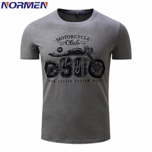 NORMEN Men's Fashion T-Shirt O-Neck Short Sleeve Print Shirt Men Motorcycle Tops Tees EUR Size Casual Streetwear Hot Sale(China)