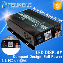 Off Grid Pure Sine Wave Power/Solar Inverter 3000W 12/24/36V/48V to 100/110/120/200/230/220V Car Power Inverter LED Display