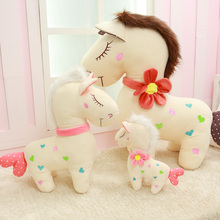 Kingtoy Creative Birthday Gift Stuffied Pony Horse Plush Horse Toy