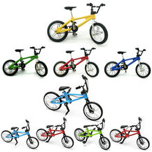 1PCS 5 Colors Children Mini Sized Alloy Finger Bikes Simulation Model Bicycle Toys Bmx Boys And Girls Creativity Gift(China)