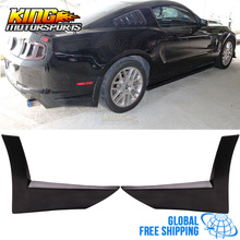 For 13-14 Ford Mustang X Style 2PC Rear Bumper Lip Spoiler Apron - Urethane PU Global Free Shipping Worldwide