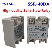 TWTADE/ High-quality Single Phase Solid State Relay SSR-40DA 40A Module 3-32V DC To 24-480V AC SSR-40 DA SSR 40A(China)