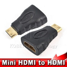 Female to Male F-M Converter Connector Mini HDMI to HDMI Adapter for HDMI HD 1080P Cable Adapter Device for HDTV
