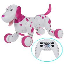 Electronic Pet RC Robot Dog Educational Smart Dog for Age 3+ RC walking dog 2.4G Wireless Remote Control for Children As Gift(China)