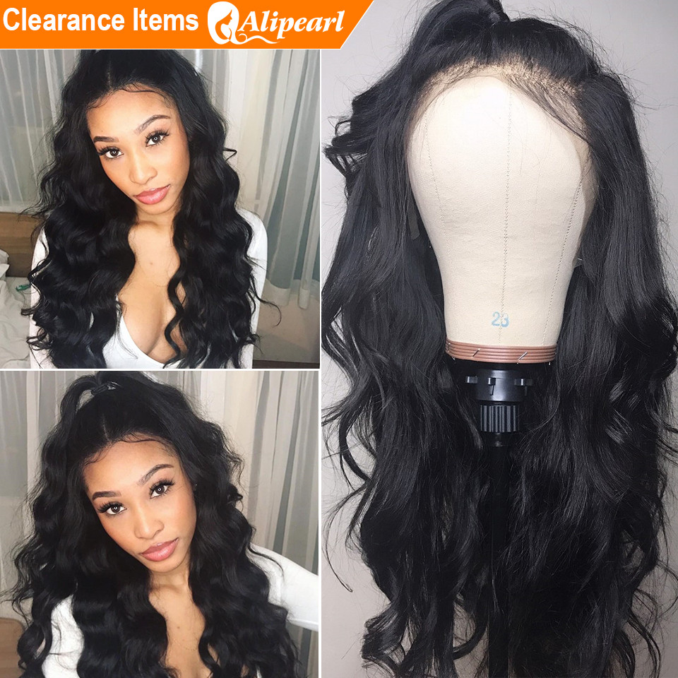 Lace Front Human Hair Wigs Pre Plucked 130% 150% 180% 250% Density Brazilian Body Wave Wigs For Women Remy AliPearl Hair(China)