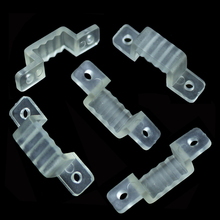 50Pcs/lot 10mm 12mm 16mm width Silicone Mounting Connector clip For 220V IP67 waterproof 3528 5050 5630 LED Strip fixing holder