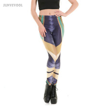 Buy Gothic Pencil Leggings Stretch Women 3D Stripes Fitness Capris Legging Skinny Punk Rock Pants High Waist Trousers Workout Legins for $9.24 in AliExpress store