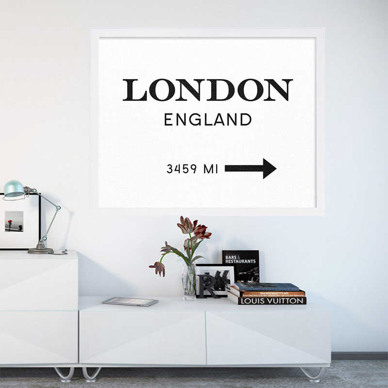 Modern London England Print Art Interior Design Poster Canvas Art Painting  Wall Pictures For Living Room