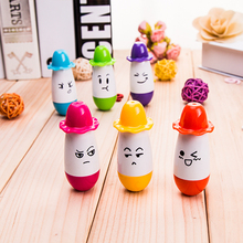 Lovely smiling face gentleman hat telescopic Ballpoint Pen Pens Pencils Writing Supplies Creative gift office stationery Z8017