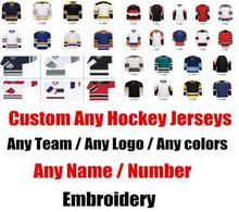 SexeMara Special Personal Custom Customized ICE Hockey Jerseys Any logo/Team/Name/Number/Color/Size Sewn On Embroidery XS-4XL