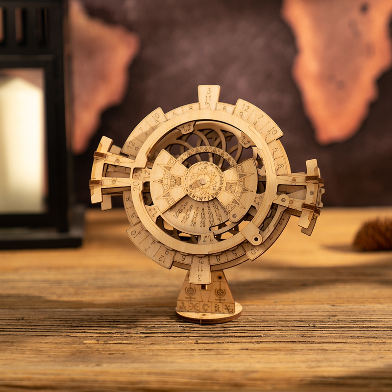 Calendar Creative Diy 3d Perpetual Calendar Wooden Mechanical Model Puzzle Game Assembly Toy Gift