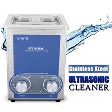 Clerance GT SONIC-P2 2L Ultrasonic Cleaner Heating Timer Stainless Tank Ultrasonic Bath