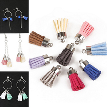 1Pcs Satin Silk Tassel Findings For Keychain Cellphone Straps With Silver Caps Fringe DIY Jewelry Charms Pendant Tassel