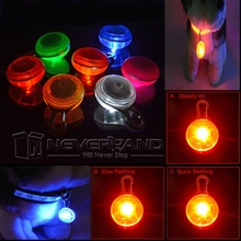 Dog LED Night Safety Flash Light Pet Clip Circular Blinker for Dog Cat Collar Be Safe at Nigh!