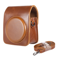 Andoer Vintage PU Leather Camera Bag Protective Case for Fujifilm Instax Mini 70 Instant Film Camera with Shoulder Strap