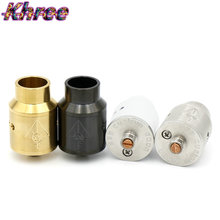Khree E-Cigarette GOON 528 RDA 22mm Vaporizer Rebuildable Dripping Atomizer With 2pcs Drip Tips And Metal CHUFF fit for box mod