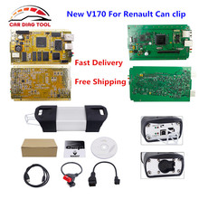 Fast Delivery of V170 For Renault Can Clip Full Chip Gold CYPRESS AN2131QC Best For Renault Diagnostic Tool Auto OBD2 Scanner(China)