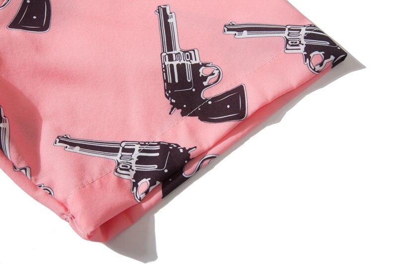 Pistol Gun Print Hawaiian Shirts 4