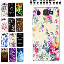 Beautiful Elegant Blue Flower Printer TPU Soft Mobile Phone Case for Prestigio Grace Q5 PSP5506DUO Back Cover
